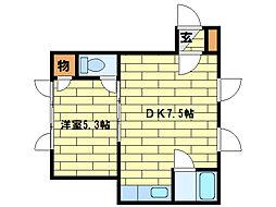 エステート植松[2階]の間取り