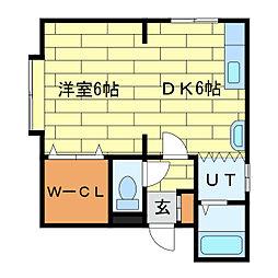サニーパークサイド[3階]の間取り
