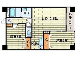 NOVA TOUR平岸I[2階]の間取り