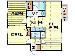 minna house真駒内[1階]の間取り