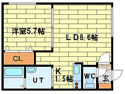 トレゾール澄川[2階]の間取り