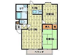 フローラルガーデンI[2階]の間取り