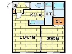 ノースポインツ澄川[2階]の間取り