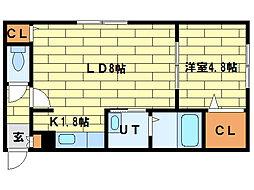 SENNA澄川[1階]の間取り