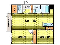 Eorze澄川[4階]の間取り