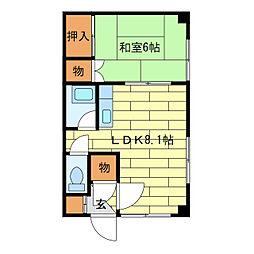 第2家土住マンション[2階]の間取り