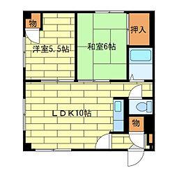 第2家土住マンション[3階]の間取り