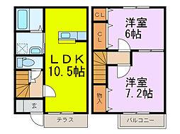 [テラスハウス] 埼玉県加須市平永 の賃貸【/】の間取り