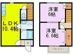 [テラスハウス] 埼玉県加須市串作 の賃貸【/】の間取り