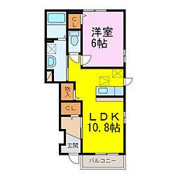 マードレ六番館[1階]の間取り
