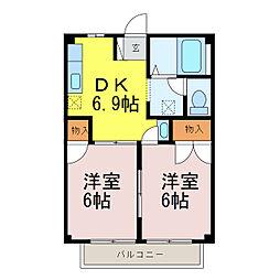 カーム鈴木[2階]の間取り