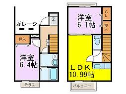 [テラスハウス] 埼玉県加須市馬内 の賃貸【/】の間取り