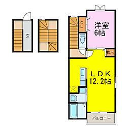 Confort K[3階]の間取り