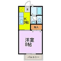 レイクヒル 弐番館[2階]の間取り