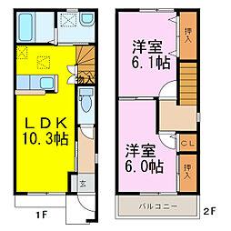 [テラスハウス] 埼玉県久喜市東大輪 の賃貸【/】の間取り