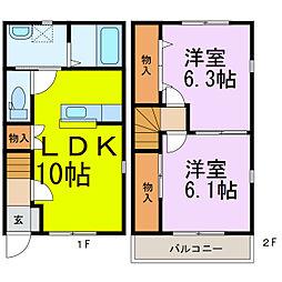 [テラスハウス] 埼玉県加須市北大桑 の賃貸【/】の間取り