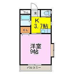 ラフォーレ・ピース[1階]の間取り