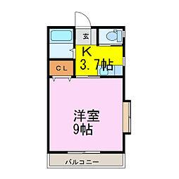 ラフォーレ・バード[1階]の間取り