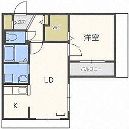 リリアムハウス[1階]の間取り
