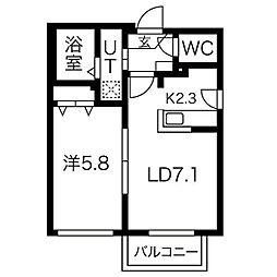 ヴィレッタS14[2階]の間取り