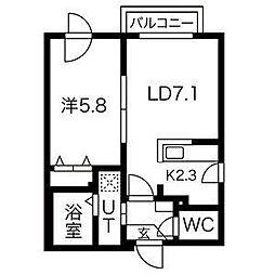 ヴィレッタS14[4階]の間取り