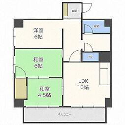 北海道札幌市中央区南十一条西7丁目の賃貸マンションの間取り