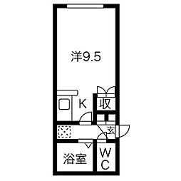 プレール札幌[2階]の間取り