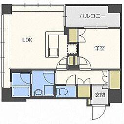 ラフィネタワー札幌南3条[3階]の間取り