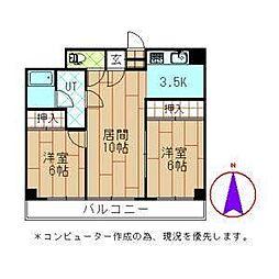 紫苑大通[2階]の間取り