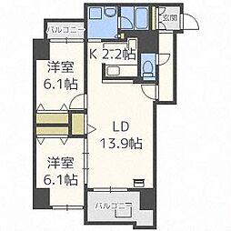 スクエアマンション6.14II[10階]の間取り