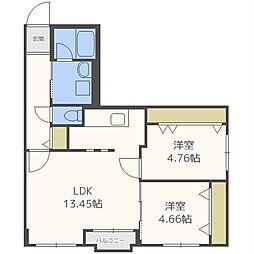 ブランキューブ612[4階]の間取り