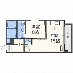 北海道札幌市中央区南六条西8丁目の賃貸マンションの間取り