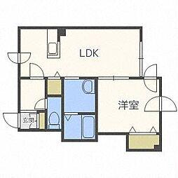 マイスター渋谷マンション[1階]の間取り