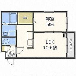 北海道札幌市白石区栄通10丁目の賃貸マンションの間取り