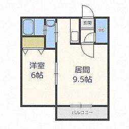 北海道札幌市白石区南郷通14丁目南の賃貸マンションの間取り