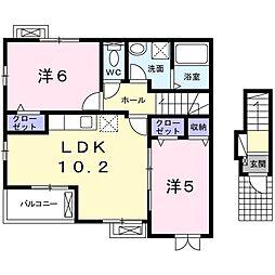 パークハウス 2階2LDKの間取り