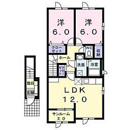 ベスト 2階2LDKの間取り