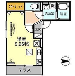 JR埼京線 戸田駅 徒歩11分の賃貸アパート 1階ワンルームの間取り