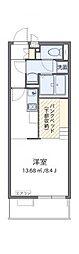 JR常磐線 水戸駅 徒歩16分の賃貸マンション 2階ワンルームの間取り