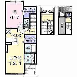 ボンヌーベル・M 3階1LDKの間取り
