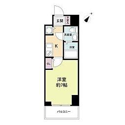 神戸市海岸線 みなと元町駅 徒歩2分の賃貸マンション 12階1Kの間取り