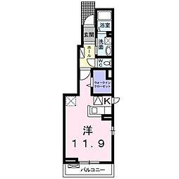 JR仙石線 石巻駅 徒歩16分の賃貸アパート 1階1Kの間取り