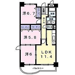 アバンツァート ヒロタ 1階3LDKの間取り
