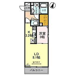 JR京浜東北・根岸線 大宮駅 徒歩19分の賃貸アパート 2階1DKの間取り