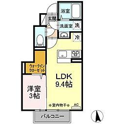 仮)Dーroom新井田西2丁目 1階1LDKの間取り