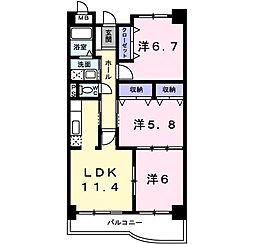 アバンツァート ヒロタ 5階3LDKの間取り