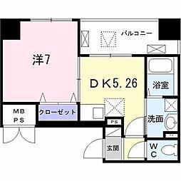 Field-V 築地 3階1DKの間取り