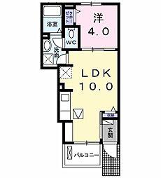 プランドール 1階1LDKの間取り