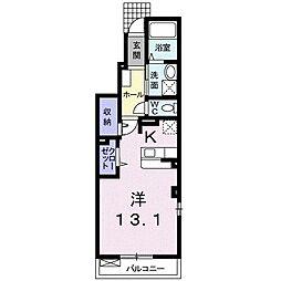 仙台市営南北線 台原駅 徒歩18分の賃貸アパート 1階1Kの間取り