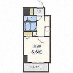 Osaka Metro谷町線 南森町駅 徒歩8分の賃貸マンション 5階1Kの間取り